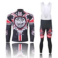 WEST BIKING Cykling Tøjsæt/Jakkesæt / Trøje / Bib Tights Herre Cykel Åndbart / Hurtigtørrende / Anatomisk design / 3D Måtte / Refleksbånd