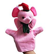 2PCS Christmas Pink Elephant Parent-child Hand&Finger Puppets Kids Talk Prop