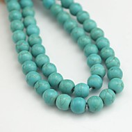 Toonykelly Cute Round Small Green Turquoise DIY Beads 65Pc/Bag
