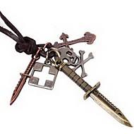 męskie naszyjniki rocznika nóż mężczyzna pandent ukryj linowe biżuteria (1 szt)