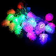 20-LED 4M Waterproof Christmas Decoration Pine cone RGB Light LED String Light (220V)