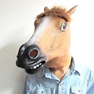 populární hlava koně latex masky na Halloween (různé barvy)