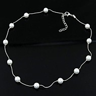 Damskie Perlový náhrdelník Pojedynczy Strand Perłowy Modny Osobiste Biżuteria Na