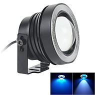 67MM 10W LED 7000K Cool White Fog Light and Ice Blue Angel Eye Rings DRL DIY Bulb for Car (DC 12V-24V)