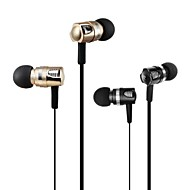 LABSIC-IP116 3.5mm HiFi Stereo MiNi Metal Noodle line Calls Bass Ear Earplugs  inline Microphone  for PC Laptop Phone