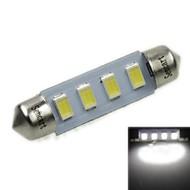 39mm (SV8.5-8) 2w 4x5730smd 120-1600lm 6000-6500K weißes Licht LED-Lampe für Auto-Kennzeichenleuchte (ac12-16v)