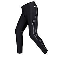 SANTIC Moto/Ciclismo Calças / Meia-calça / Fundos Homens Mantenha Quente / Tiras Refletoras / Forro de Velocino Poliéster / TosãoCor