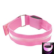 LED lys skærm arm band rem armbind pink (2xcr2032)