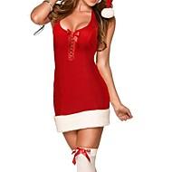 festive lacets robe de Noël de Mme costume de noël des femmes