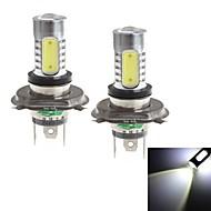 H4 20W 1900LM 6000-6500K White Light Bulb for Car Fog Light (12-24V,2 Pieces)