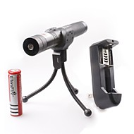 LT-0676 Adjustable Focus Burning Lighter Cutting Green And Red Laser Pointer Kits(2mw,532nm/650nm,1xCR18650)