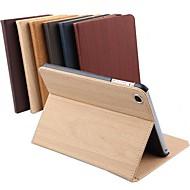 dsd® souper de luxe glissement veille automatique / réveil de bande de bois cuir PU de cas complète du corps pour iPad 2/3/4 (couleurs