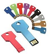 16gb Schlüssel förmige Metall USB-Flash-Laufwerke