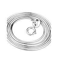 Naisten Kaulaketjut Käärme Sterling-hopea Classic Valkoinen Korut Varten Party Päivittäin Kausaliteetti 1kpl