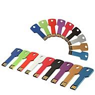 32gb Schlüsseltyp USB-Flash-Laufwerk mit Kette Loch (verschiedene Farben)