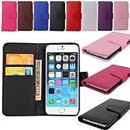 Porte-cartes de portefeuille pu étui en cuir pour iphone 6s 6 plus