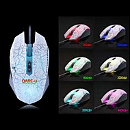 Dare-u WCG Wrangler 1500-4000DPI 6 LED Colors 7 Programmable Buttons Metab USB Wired Gaming Mouse -White