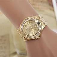 Women's Fashion Rhinestones Steel Belt Quartz Wrist Watch Cool Watches Unique Watches