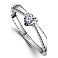 925 kobiet pierścienie druku serce