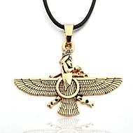 liga de zinco águia amarelo corda preta colar zoroastrianism dos homens Ahura Mazda