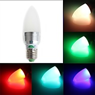 Zweihnde E26/E27 3 W 1 Dip LED 200-250 LM RGB C Dimmable/Remote-Controlled/Decorative Candle Bulbs AC 85-265 V