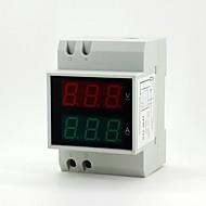 """0.55 """"6 dígitos levou atual digitais / tensão medição amperímetro / voltímetro"""