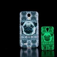 Mert Samsung Galaxy tok Foszforeszkáló / Minta Case Hátlap Case Kutya PC Samsung S4 Mini
