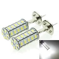H1 20W 36X5730SMD 800-1200LM 6000-6500K White Light Led Bulb for Car Fog Lamp(A pair/AC12-16V)