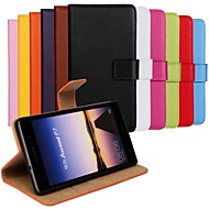 Solid Color Genuine Leather Full Body Cover with Card and Stand Case for HuaweiAscend P7 (Assorted Color)