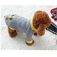 Gatos / Perros Disfraces / Camiseta Gris Ropa para Perro Primavera/Otoño Caricaturas Cosplay