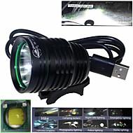 zhishunjia lampe étanche 3 en mode 1xcree XM-l2 u2 haute puissance vélo (900lm, USB 5V, noir)
