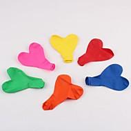 100 stk 12 tommers 1,5 gram bryllupsfester hjerteformet dekorasjon vanlig ballong (farger tilfeldig)