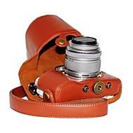 17mm / 14-42mm 렌즈와 올림푸스 펜 E-PL7에 대한 dengpin® PU 가죽 여지 패턴 카메라 케이스