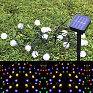 SOR-103 20LED Solar Lamp String Maomao String Garden Decorative Lantern Festival Lights 4.8M