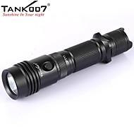 tank007® PT11 táctica 5 modos linterna 1xCree xp-G R5 (420lm, 2x16340 / 2xcr123, negro)