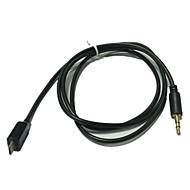 1m 3.3ft micro USB til 3,5 mm headset-kabel adapter til Samsung telefoner (assorteret farve)