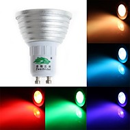 zweihnder GU10 3w 250lm 450-700nm 1xled RGB 빛 스포트 라이트 (교류 85-265V)