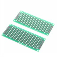 3 x 7cm dobbeltsidet glas fiber prototyping pcb universel breadboard (2 stk)