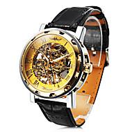 gepersonaliseerde modieuze mannen horloge mechanische holle graveren