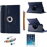 Litchi Rotating PU Leather with Protective Film、Stylus and Dust Plug for iPad Air 2