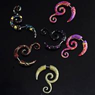 Lureme®Fashion 316L Surgical Titanium Steel  Resin Multicolor Corner Shape Ear Hook(Random Color) Christmas Gifts