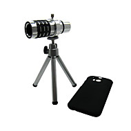Detachable 12X Telephoto Lens Set with Back Case for Htc One M8
