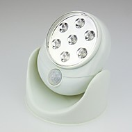 360 Degree Rotation Wireless Design White 7 LED Sensor Night Light (2xAA)
