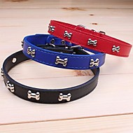 Cat / Dog Collar Adjustable/Retractable / Cosplay Red / Black / Blue / Brown PU Leather