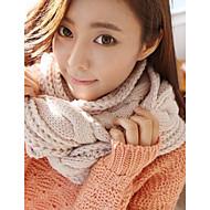 outono e inverno torção tricô lenços quentes das mulheres