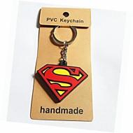 le style Superman porte-clés avec un matériau plastique souple (1pc)