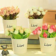 qihangセラミック鉢植えの写真撮影は造花ユーカリの花の装飾の小道具