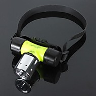 LS008 CREE XM-L T6 1800LM Waterproof LED Flashlight Headlight 80M(Green 1X18650 3XAAA)