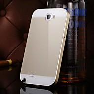 KX Brand Metal Frame Acrylic Mirror Backplane Metal Hard Case for Samsung Galaxy Note 2 N7100(Assorted Colors)