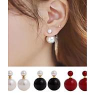 Double Pearl Earrings (Both Sides Can Wear)